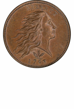 Flowing Hair Wreath Cents - Years Made: 1793 - Mint Marks: (P) - Mintage: 63,353 - Value Range: $600 - $2,250,000 - Average Circulated Retail: $1200