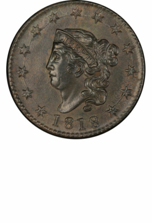 Coronet Large Cents - (aka Matron Head, aka Liberty Head) - Years Made: 1816 - 1839 - Mint Marks: (P) - Mintage: ~59 Million+ - Value Range: $3 - $300,000 - Average Circulated Retail: $14