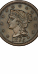 Braided Hair Large Cents - Years Made: 1839 - 1857 - Mint Marks: (P) - Mintage: ~71 Million+ - Value Range: $3 - $125,000 - Average Circulated Retail: $12