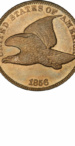 Flying Eagle Cents - Years Made: 1856 - 1858 - Mint Marks: (P) - Mintage: 41 Million+ - Value Range: $3 - $350,000 - Average Circulated Retail: $15.00