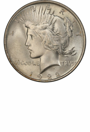 Peace Silver Dollars - Years Made: 1921 - 1935 - Mint Marks: (P), S, D - Mintage: ~180 Million+ - Value Range: $10 - $150,000 - Average Circulated Retail: $18