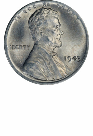 Zinc-coated Steel Wheat Cents - Years Made: 1943 - 1944 - Mint Marks: (P), S, D - Mintage: ~500 Million - Value Range: $0.02 - $2,000,000 - Average Circulated Retail: $0.10