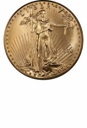 American Gold Eagles (many sizes) - Years Made: 1986 - Present - Mint Marks: (P), P, (W), W - Mintage: ~10 Million+ - Value Range: $100 - $22,500 - Average Retail: $150, $300, $600, $1,400 - (dependent upon bullion market)