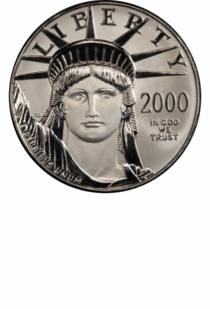 American Platinum Eagle (many sizes) - Years Made: 1997 - Present - Mint Marks: (P), W - Mintage: ~1 Million+ - Value Range: $100 - $85,000 - Average Retail: $100, $300, $600, $1,500 - (dependent upon bullion market)