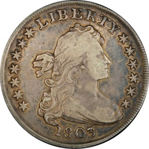 This is an authentic 1803 Dollar currently valued around $2000.