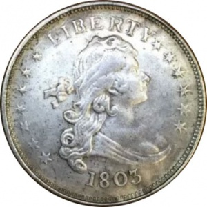 This is an easily identified counterfeit 1803 Dollar currently valued around $0.25.