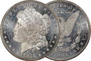 A bright Prooflike untoned Morgan Silver Dollar.
