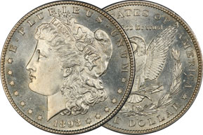 What's an 1893-S Morgan Silver Dollar Worth? Probably a lot. This key date Morgan Dollar has a mintage of 100,000, with about 10,000 pieces graded. It's not rare. But it's so heavily collected that an authentic example is worth well over $1000 in low grades and perhaps $1,000,000 in the highest grades.