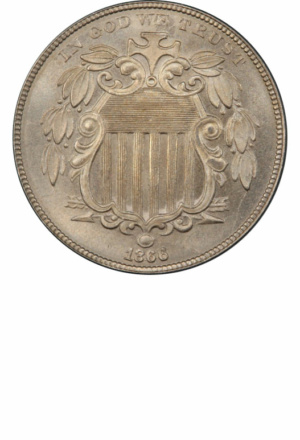Shield Nickel, Rays Reverse, Obverse