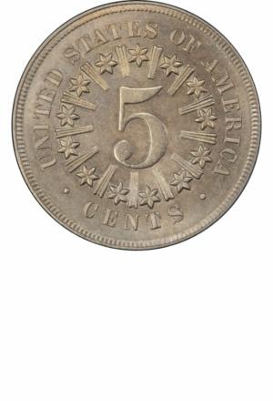 Shield Nickel, Rays Reverse, Reverse