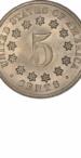 Shield Nickel, No Rays Reverse, Reverse