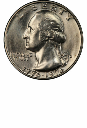 1976-D Washington Bicentennial Quarter, Obverse - Clad