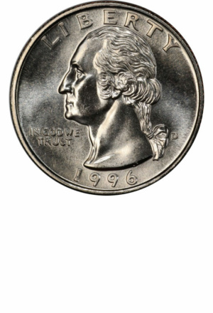 1996-D Washington Quarter, Obverse - Clad