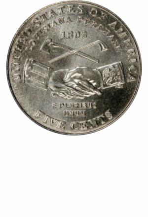 Jefferson Nickel, Westward Journey, Peace Reverse