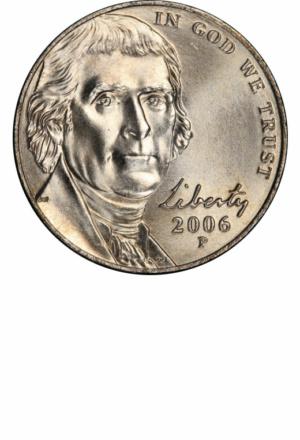 Jefferson Nickel, Return to Monticello, Obverse