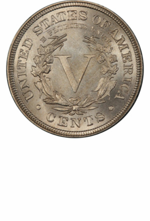 "Liberty Nickel, with ""CENTS"", Reverse"