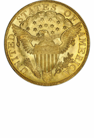 Draped Bust Eagle, Large Eagle, Reverse