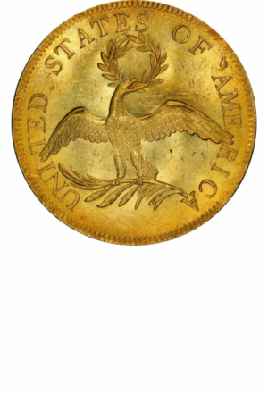Draped Bust Eagle, Small Eagle, Reverse