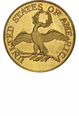 Draped Bust Half Eagle, Small Eagle Reverse