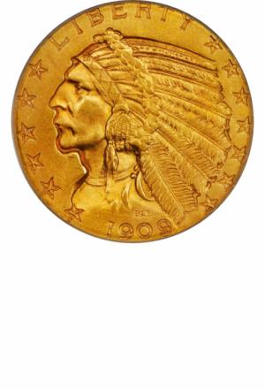 Indian Half Eagle, Obverse