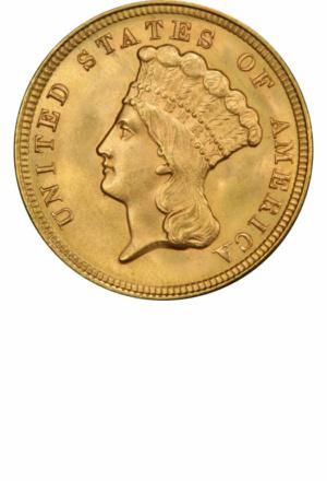 Indian Princess 3 Dollar, Obverse