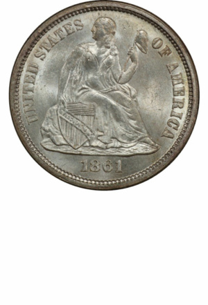 Seated Liberty Dime, Legend, Obverse