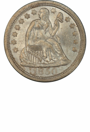 Liberty Seated Dime, Stars, Obverse
