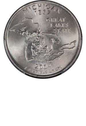 Statehood & Territories Washington Quarter - Michigan, Reverse - Clad