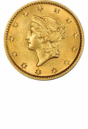 Type 1 Gold Dollar, Obverse