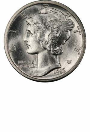 Winged Liberty (Mercury) Dime, Obverse