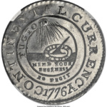 """A Continentnal """"Dollar"""" dated 1776 may have been a commemorative token created in Europe."""