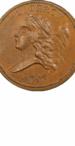 1793 Liberty Cap Half Cent, Facing Left, Obverse