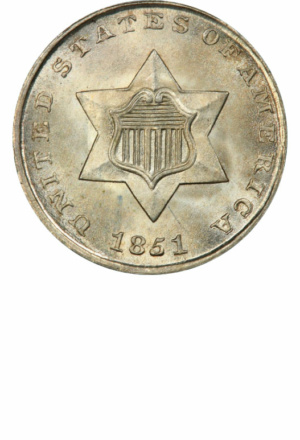 Type 1 3-Cent Silver (Trime), Obverse