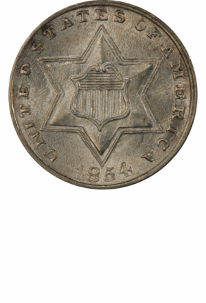 Type 2 3-Cent Silver (Trime), Obverse