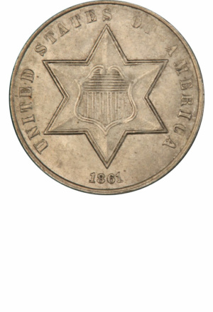 Type 3 3-Cent Silver (Trime), Obverse