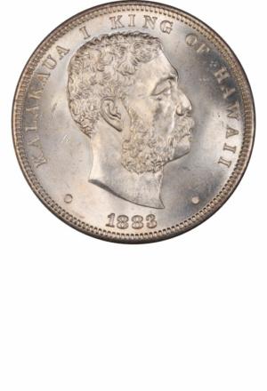 1883 Hawaii Dollar, Obverse