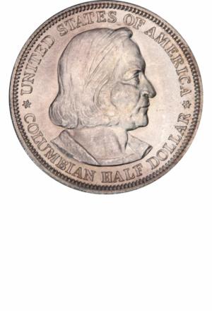 1892 Columbian Exposition Commemorative Half Dollar, Obverse
