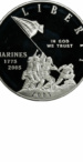 2005 Marine Corps Proof Commemorative Silver Dollar, Obverse
