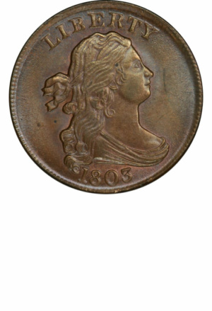Draped Bust Half Cent, Obverse