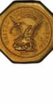 $50 Gold Humbert (California) Slug, Obverse