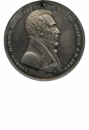 Andrew Jackson Indian Peace Medal, Silver, Obverse
