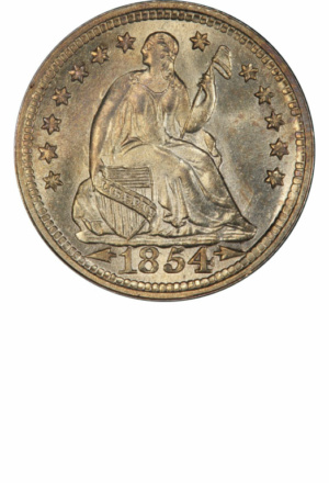 Seated Half Dime with Arrows, Obverse