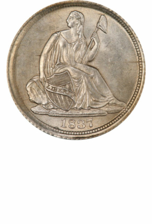 Seated Half Dime, No Stars, Obverse