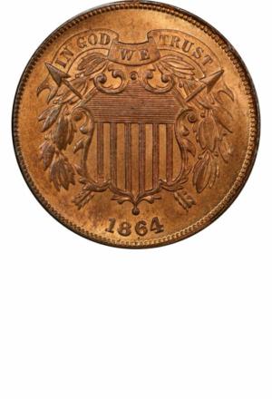 Shield 2 Cent Piece, Obverse