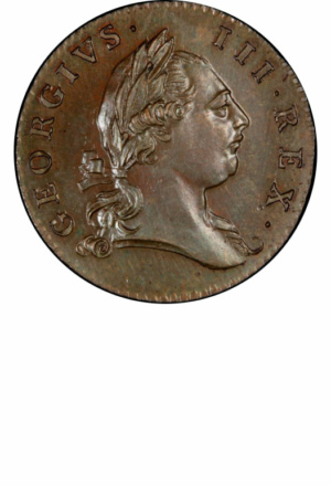 Virginia Halfpenny, Obverse