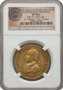 "1792 Washington ""Eagle"", NGC XF45*"