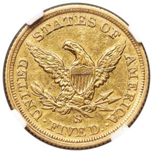 1854-S $5 Liberty Half Eagle, Reverse