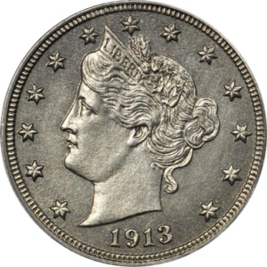 Eliasberg 1913 Liberty Nickel, Obverse