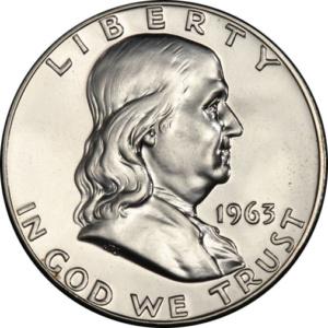 Silver Franklin Half Dollar, PCGS (Brilliant) Proof 64