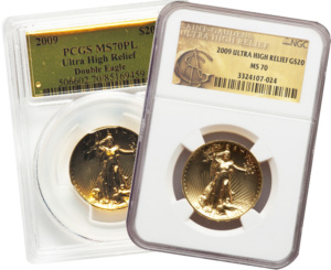 2009 Ultra High Relief St. Gaudens Double Eagle Gold Coins